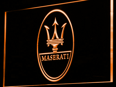Maserati LED Neon Sign - Orange - SafeSpecial