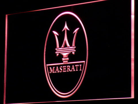 Image of Maserati LED Neon Sign - Red - SafeSpecial