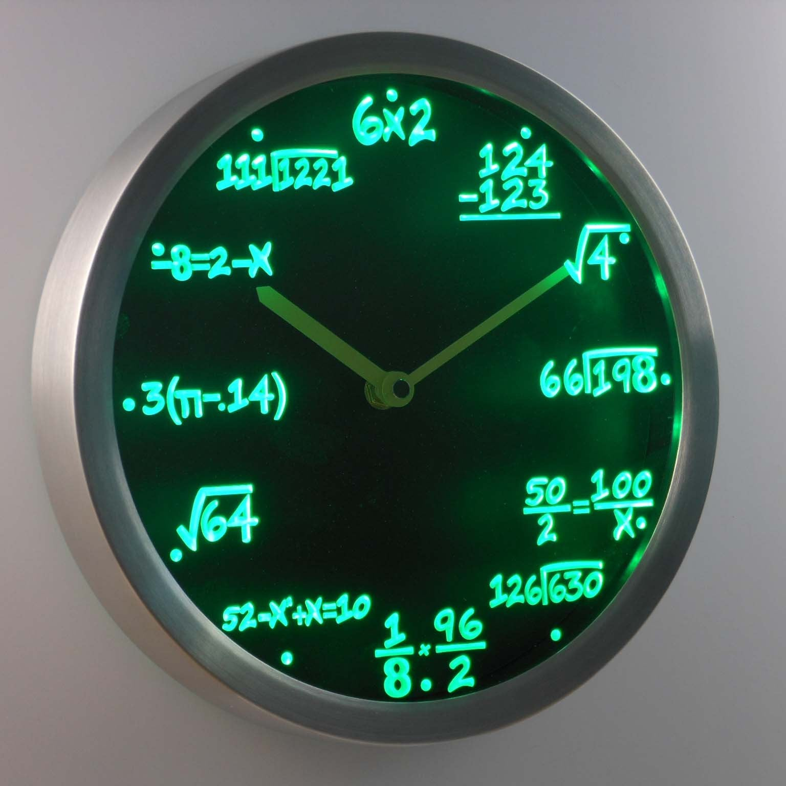 Math Equations Led Neon Wall Clock Safespecial