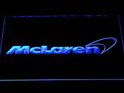 McLaren LED Neon Sign - Blue - SafeSpecial