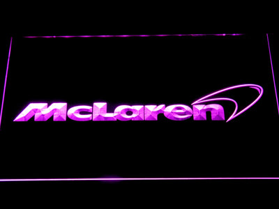 McLaren LED Neon Sign - Purple - SafeSpecial