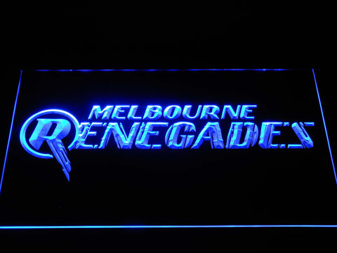 Image of Melbourne Renegades LED Neon Sign - Blue - SafeSpecial