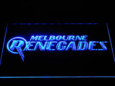 Melbourne Renegades LED Neon Sign - Blue - SafeSpecial