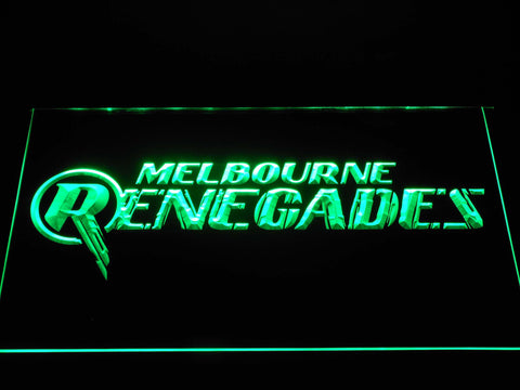 Image of Melbourne Renegades LED Neon Sign - Green - SafeSpecial