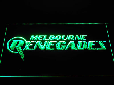 Melbourne Renegades LED Neon Sign - Green - SafeSpecial