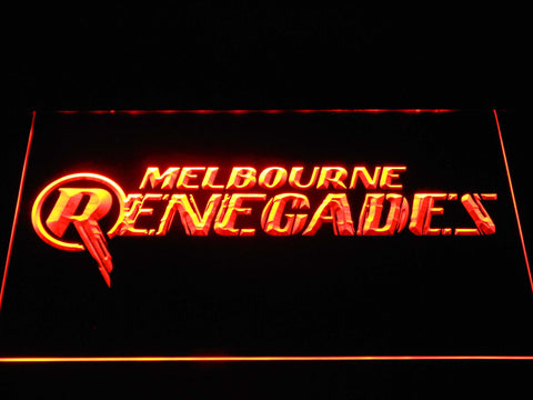 Image of Melbourne Renegades LED Neon Sign - Orange - SafeSpecial