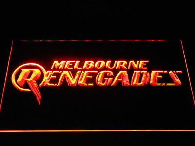 Melbourne Renegades LED Neon Sign - Orange - SafeSpecial