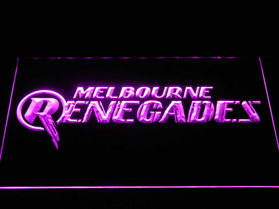 Melbourne Renegades LED Neon Sign - Purple - SafeSpecial