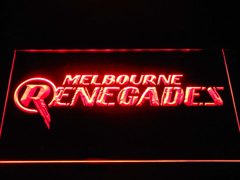 Image of Melbourne Renegades LED Neon Sign - Red - SafeSpecial
