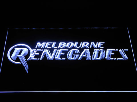 Image of Melbourne Renegades LED Neon Sign - White - SafeSpecial