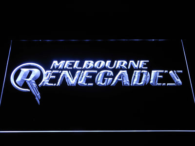 Melbourne Renegades LED Neon Sign - White - SafeSpecial