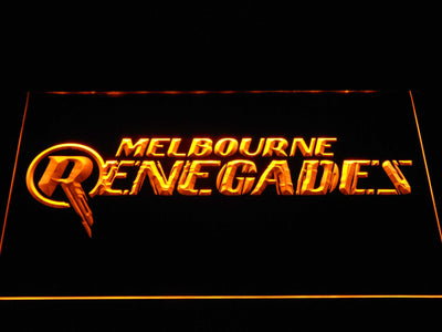 Melbourne Renegades LED Neon Sign - Yellow - SafeSpecial