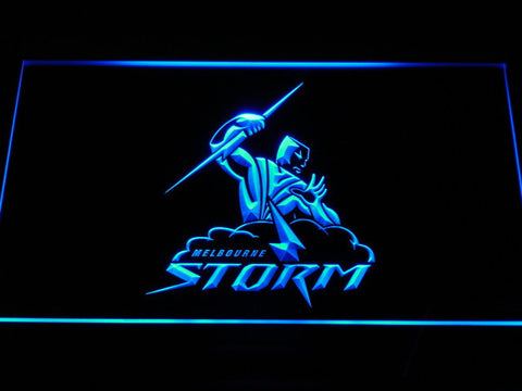 Melbourne Storm LED Neon Sign - Blue - SafeSpecial