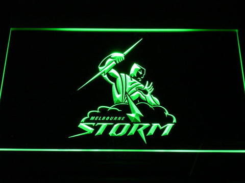 Image of Melbourne Storm LED Neon Sign - Green - SafeSpecial