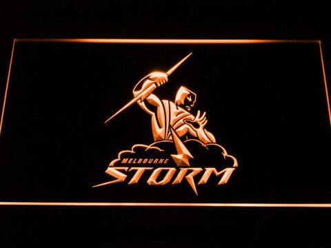 Melbourne Storm LED Neon Sign - Orange - SafeSpecial