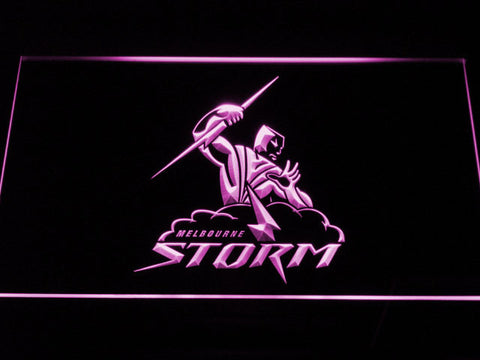Melbourne Storm LED Neon Sign - Purple - SafeSpecial