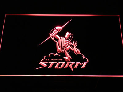 Melbourne Storm LED Neon Sign - Red - SafeSpecial