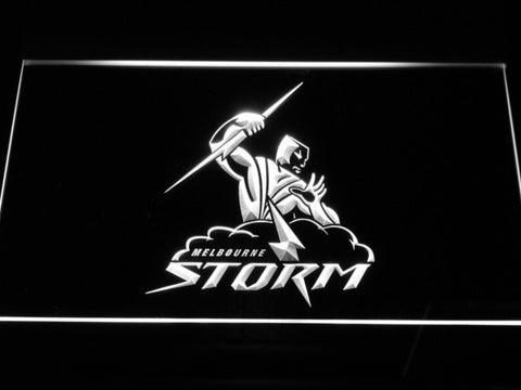 Melbourne Storm LED Neon Sign - White - SafeSpecial
