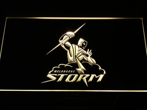 Image of Melbourne Storm LED Neon Sign - Yellow - SafeSpecial