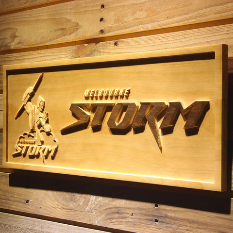 Melbourne Storm Wooden Sign - - SafeSpecial