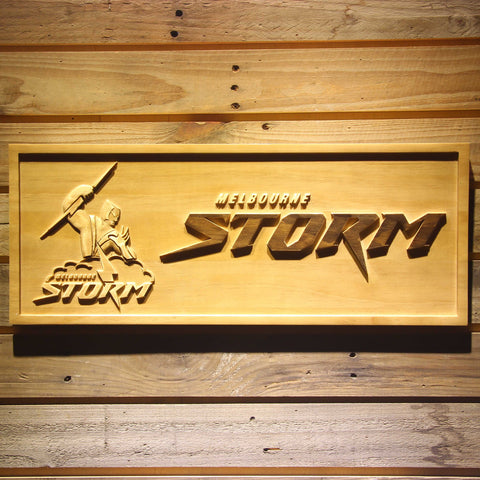 Melbourne Storm Wooden Sign - Small - SafeSpecial
