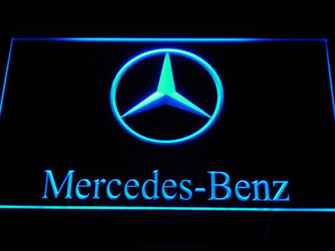 Image of Mercedes Benz LED Neon Sign - Blue - SafeSpecial