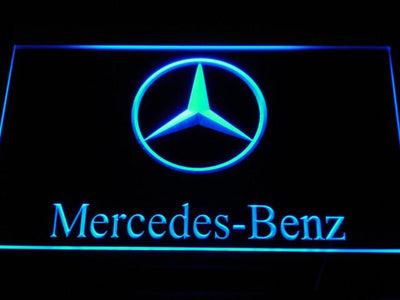 Mercedes Benz LED Neon Sign - Blue - SafeSpecial