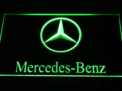 Mercedes Benz LED Neon Sign - Green - SafeSpecial