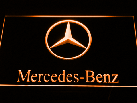 Image of Mercedes Benz LED Neon Sign - Orange - SafeSpecial