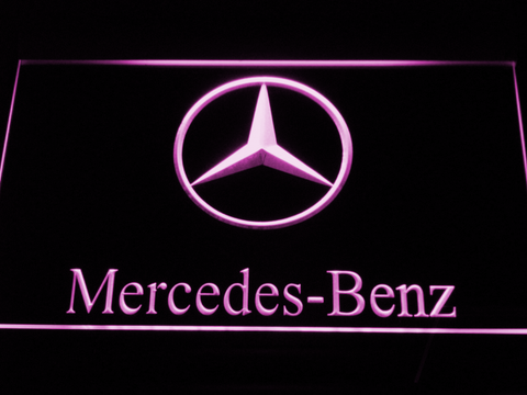 Image of Mercedes Benz LED Neon Sign - Purple - SafeSpecial