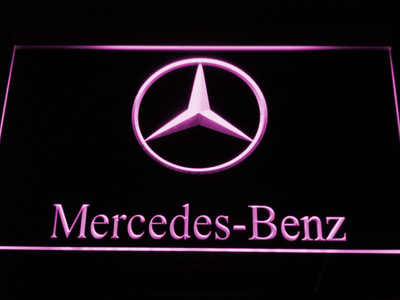 Mercedes Benz LED Neon Sign - Purple - SafeSpecial