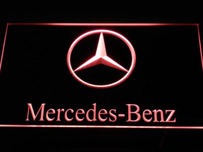Mercedes Benz LED Neon Sign - Red - SafeSpecial