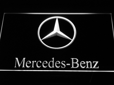 Mercedes Benz LED Neon Sign - White - SafeSpecial