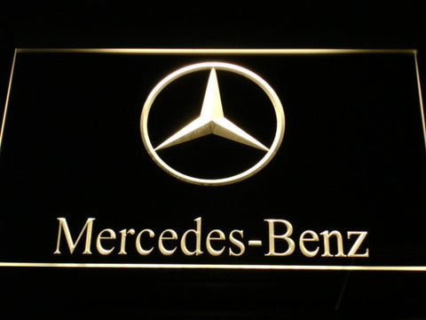 Image of Mercedes Benz LED Neon Sign - Yellow - SafeSpecial