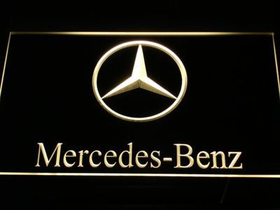 Mercedes Benz LED Neon Sign - Yellow - SafeSpecial