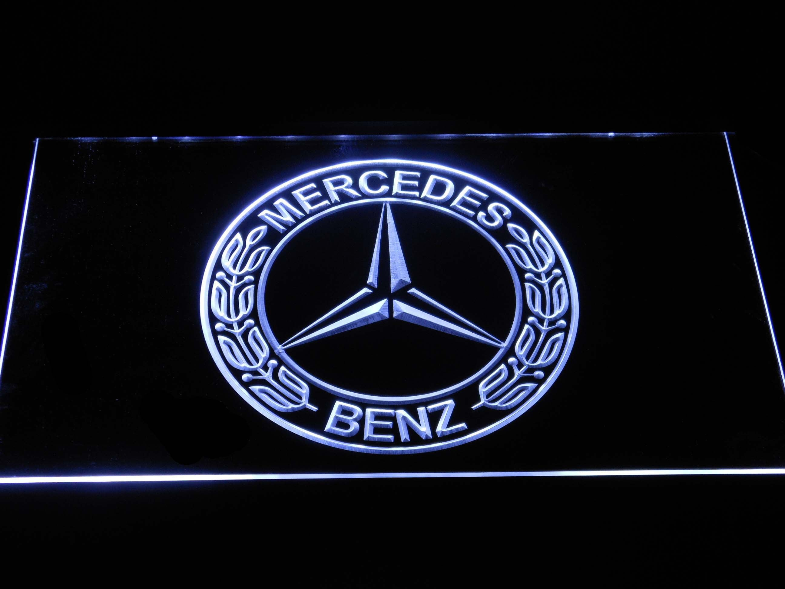 Mercedes benz old logo led neon sign safespecial for Mercedes benz sign in