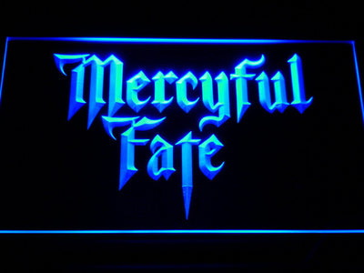 Mercyful Fate LED Neon Sign - Blue - SafeSpecial