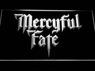 Mercyful Fate LED Neon Sign - White - SafeSpecial