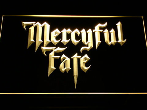 Mercyful Fate LED Neon Sign - Yellow - SafeSpecial