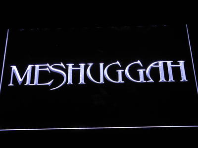 Meshuggah LED Neon Sign - White - SafeSpecial