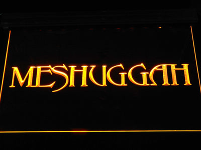 Meshuggah LED Neon Sign - Yellow - SafeSpecial