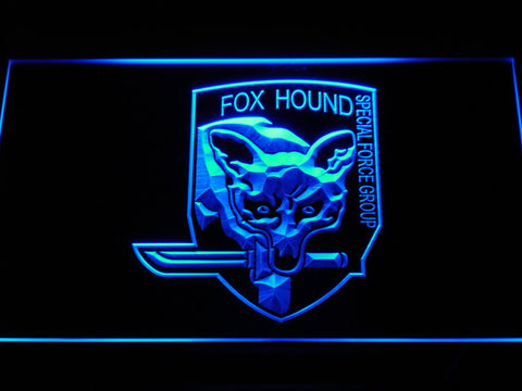 Image of Metal Gear Solid - Foxhound LED Neon Sign - Blue - SafeSpecial