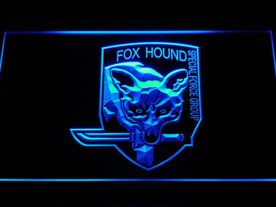 Metal Gear Solid - Foxhound LED Neon Sign - Blue - SafeSpecial