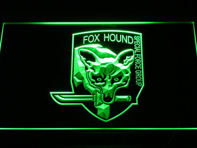 Metal Gear Solid - Foxhound LED Neon Sign - Green - SafeSpecial