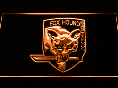 Metal Gear Solid - Foxhound LED Neon Sign - Orange - SafeSpecial