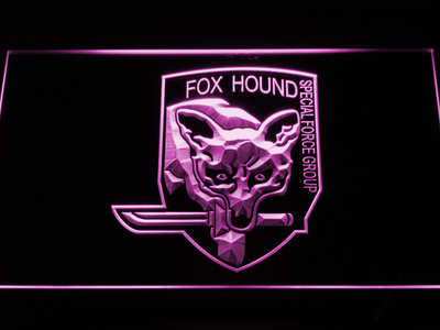 Metal Gear Solid - Foxhound LED Neon Sign - Purple - SafeSpecial