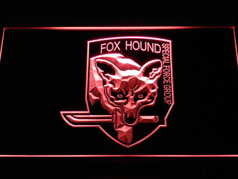 Image of Metal Gear Solid - Foxhound LED Neon Sign - Red - SafeSpecial