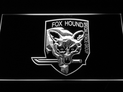 Metal Gear Solid - Foxhound LED Neon Sign - White - SafeSpecial