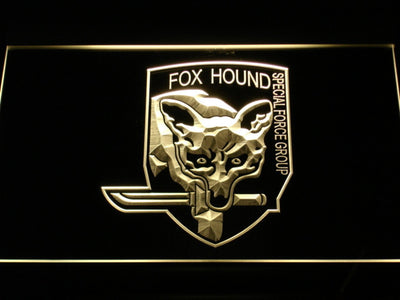 Metal Gear Solid - Foxhound LED Neon Sign - Yellow - SafeSpecial