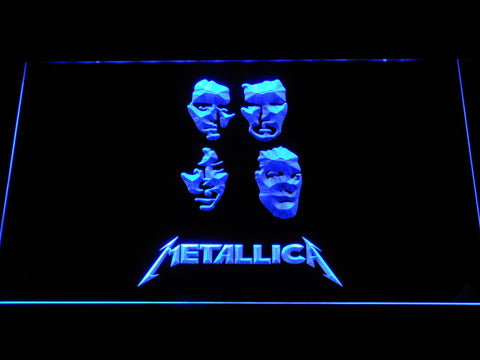 Metallica Faces LED Neon Sign - Blue - SafeSpecial